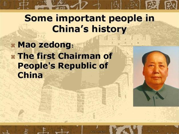 Important People Mao Zedong
