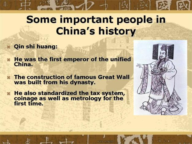 Important People Qui Shi Huang